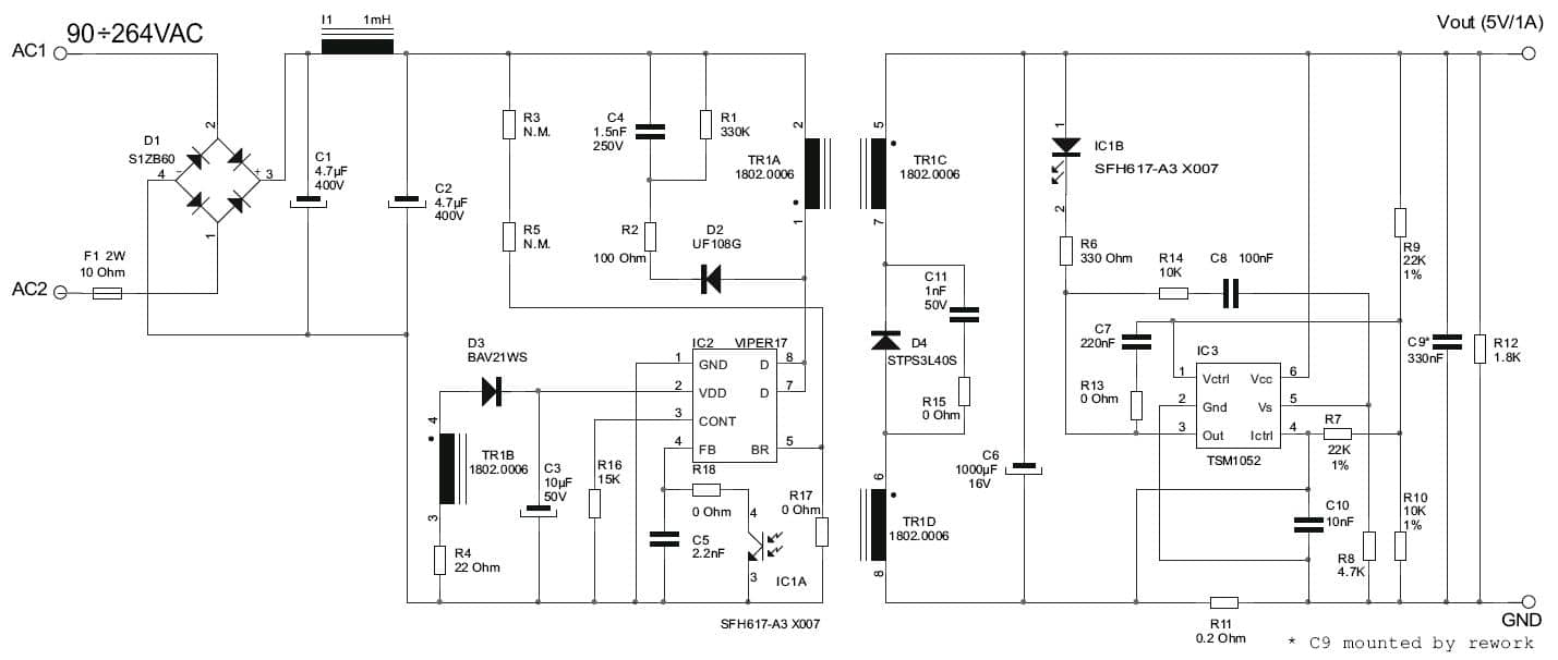 12v Switch Mode Power Supply Circuit Diagram