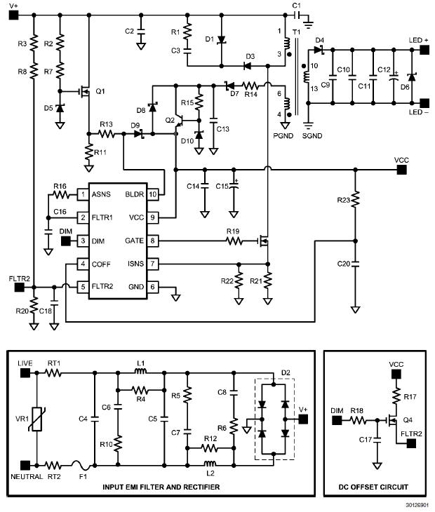 LM3445-230VFLBK: 7.2W, 210 ~ 500mA @ 27V Max, 230V, TRIAC