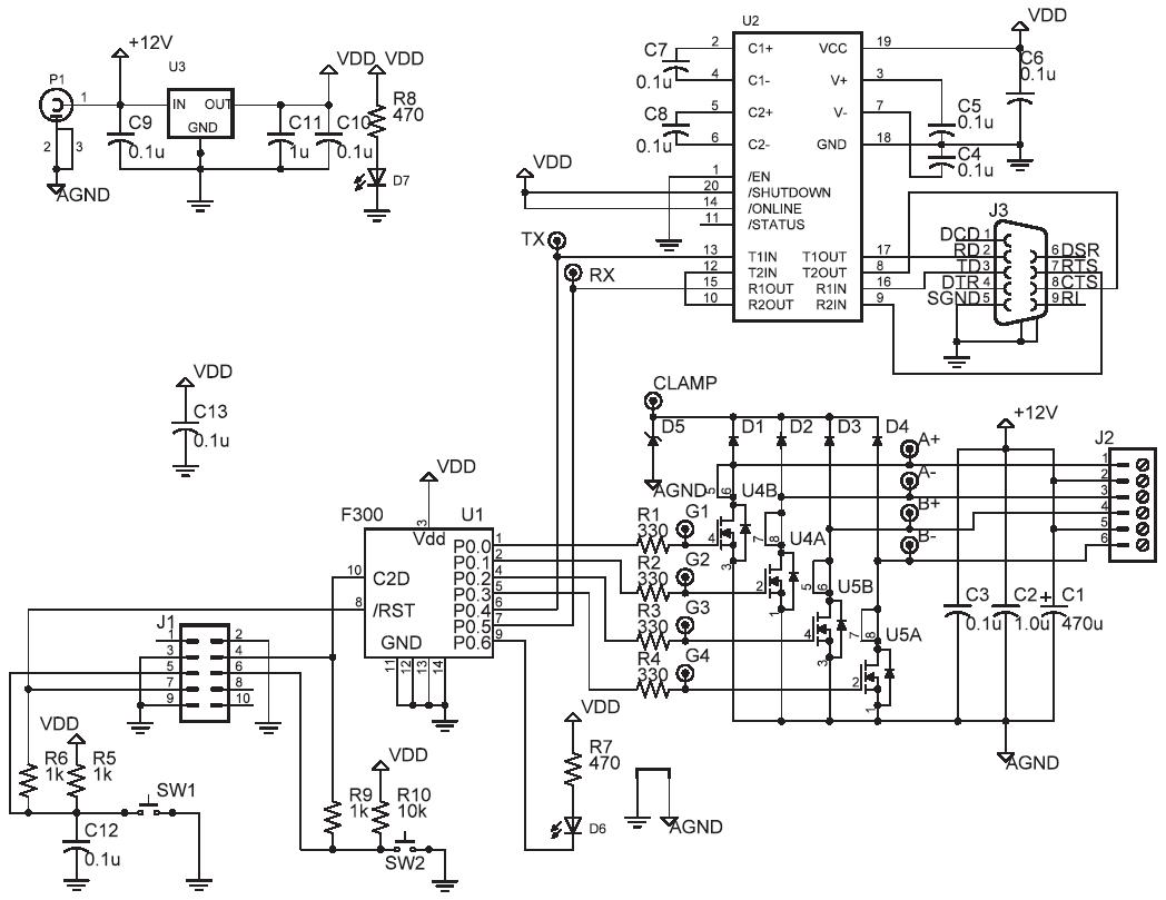 unipolar stepper schematic