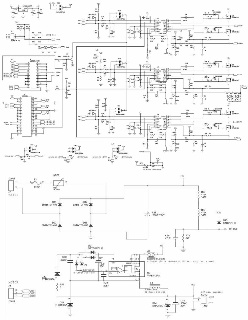 medium resolution of steval ihm021v2 100w pmsm motor driver 110 230v digikey 10 schematic diagram of variable frequency