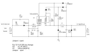 SMPS without transformer or opto? (VIPer22A)