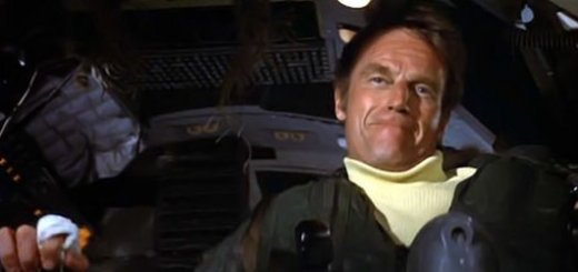 Charlton Heston in Airport 1975.