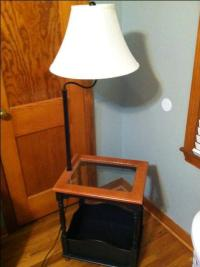 Night stand/end table with built in lamp reduced - Nex ...