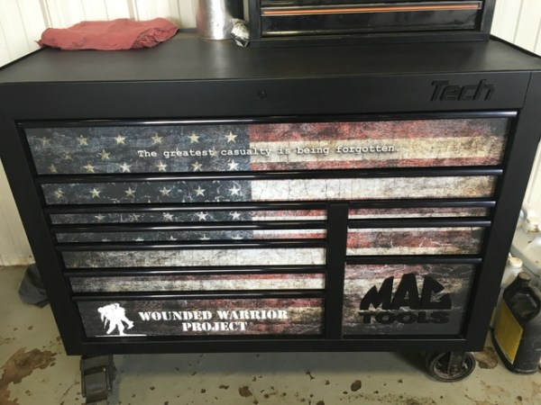 Limited edition wounded warrior project Mac Tools toolbox