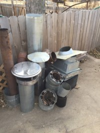 Stove Pipe: Used Triple Wall Stove Pipe