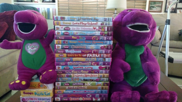 Barney DVDVHS Collection Amp SingingAnimated Barney Dinos