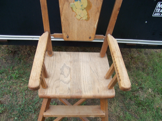 vintage wooden high chair track chairs for vets no tray nex tech classifieds