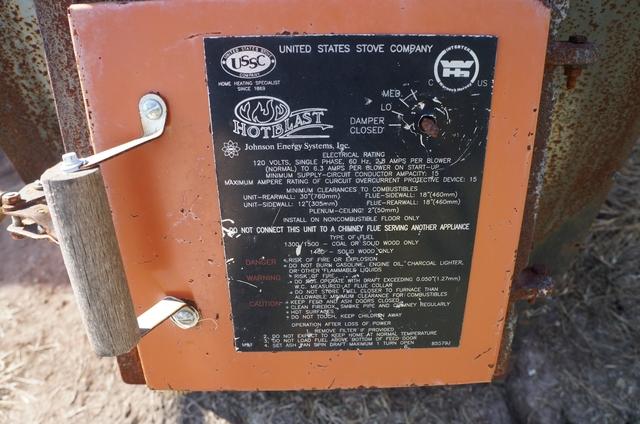 Hot Blast Wood Furnace Installation
