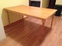 Wooden Kitchen Work Table with Spindle Legs - DiscoverStuff