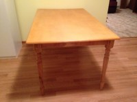 Wooden Kitchen Work Table with Spindle Legs