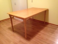 Wooden Kitchen Work Table with Spindle Legs - Nex-Tech ...