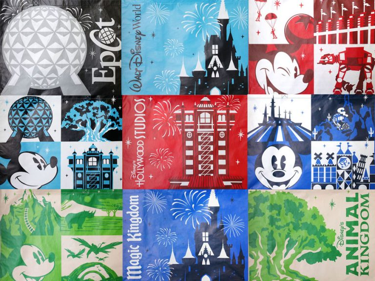 Disney reusable bag designs for Walt Disney World and Disneyland