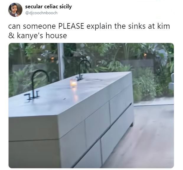 Kim and Kanyes Minimalist Sinks Have the Internet Very