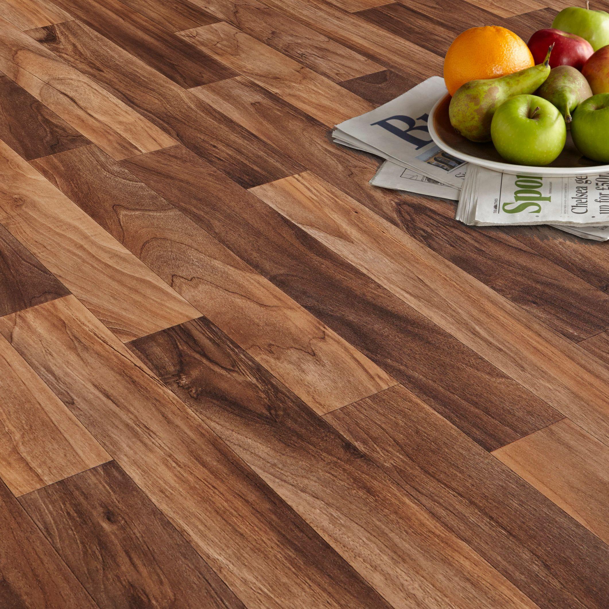 colours arezzo natural walnut effect vinyl flooring 4m