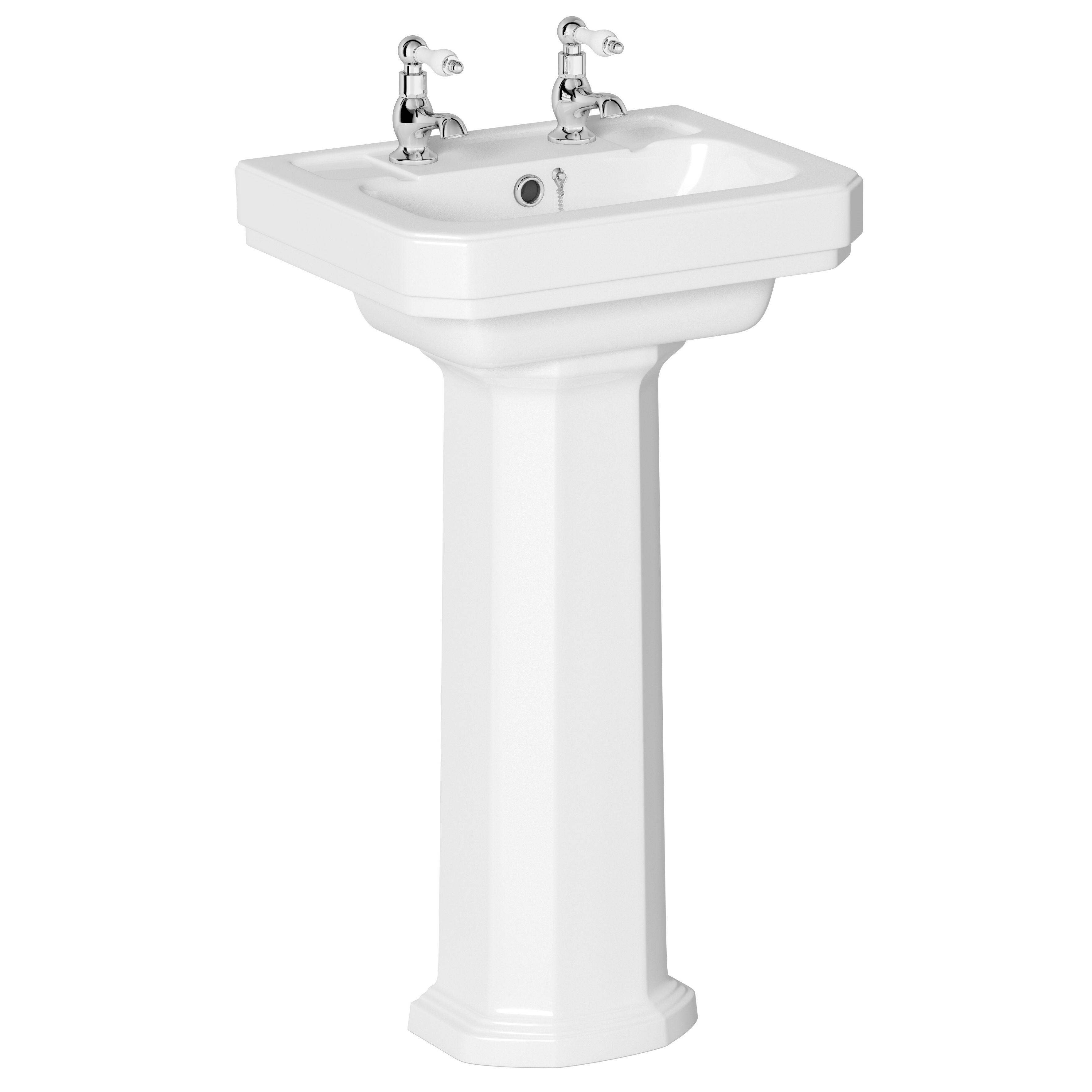 cooke lewis serina full pedestal basin