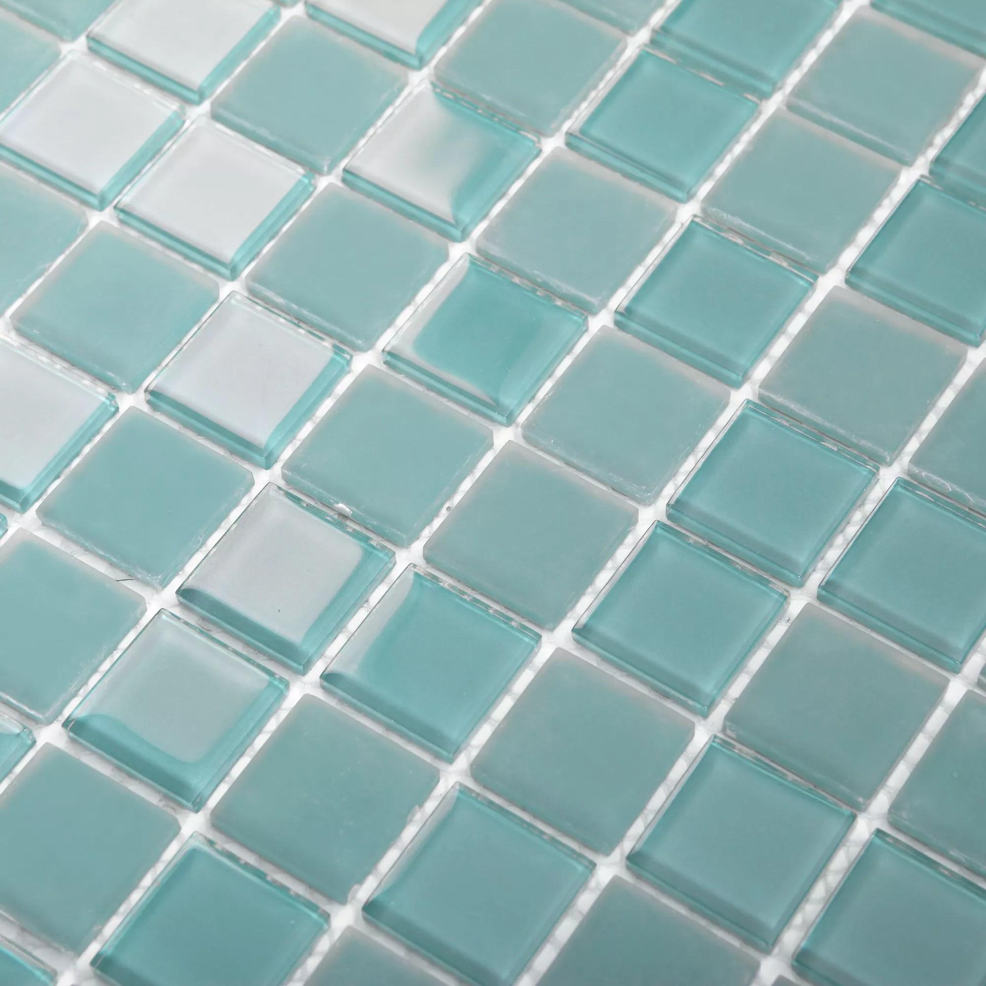 glina blue glass mosaic tile sheets l 300mm w 300mm
