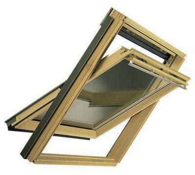 velux pine centre pivot roof window h 1160mm w 1140mm