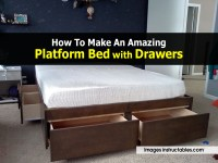 How To Make An Amazing Platform Bed with Drawers
