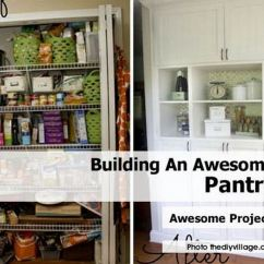 Diy Kitchen Pantry Cabinet Plans Salt Containers Building An Awesome Included