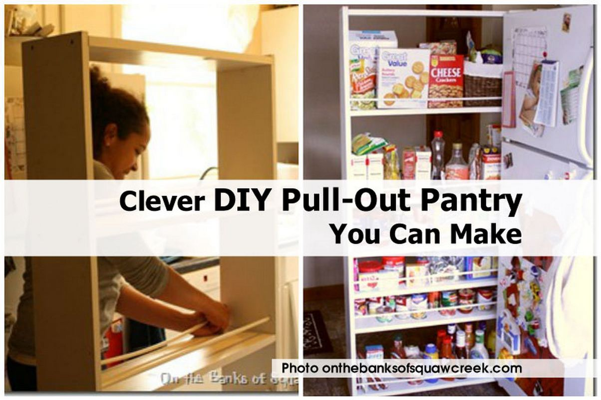 Clever DIY Pull-Out Pantry You Can Make