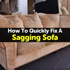 How To Fix Sofa Back Cushions Leather Singapore Sagging Support Cushion