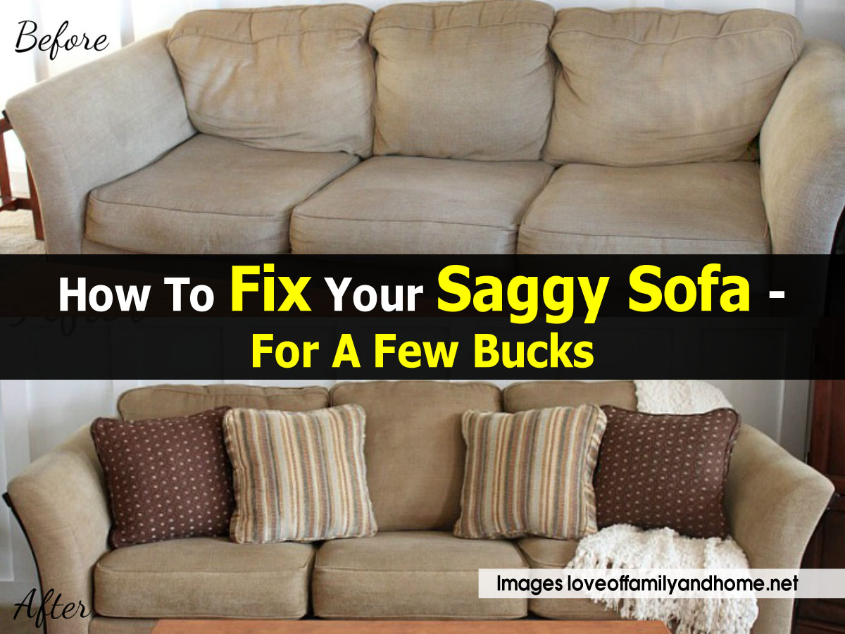 diy sofa repair how to make covers at home fix a saggy easy inexpensive couch