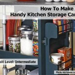 Kitchen Storage Cart Table Bench Seating How To Make A Handy