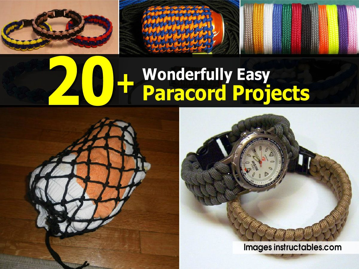 20 Wonderfully Easy Paracord Projects