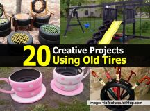 20 Creative Projects Using Old Tires