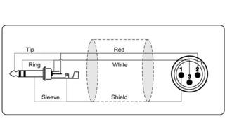 Cable de Micro de XLR macho a Jack 6,3 mm estéreo 3 m