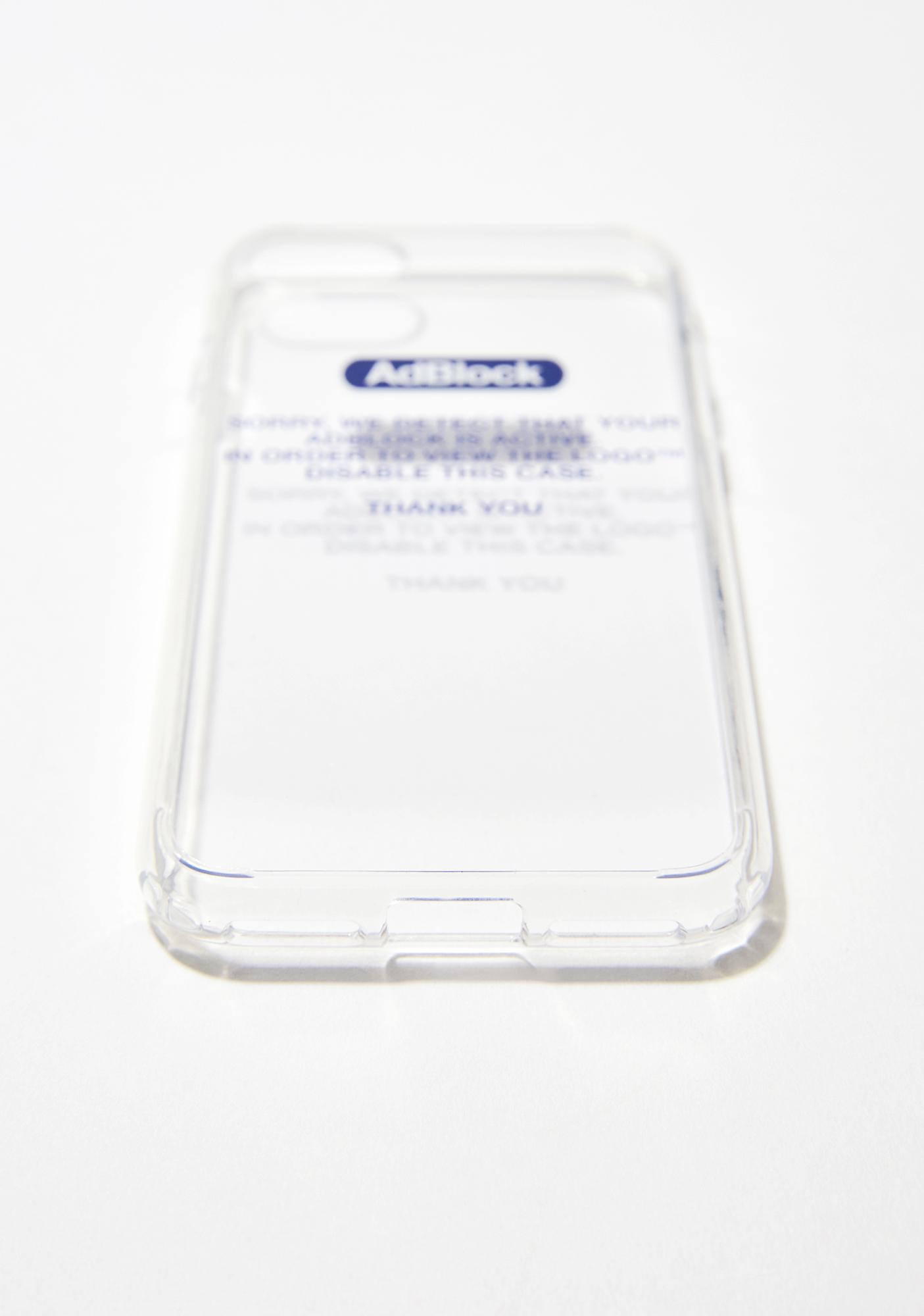 Urban Sophistication Adblock Blue Iphone Case