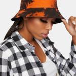 Tie Dye Bucket Hat Orange Black Dolls Kill