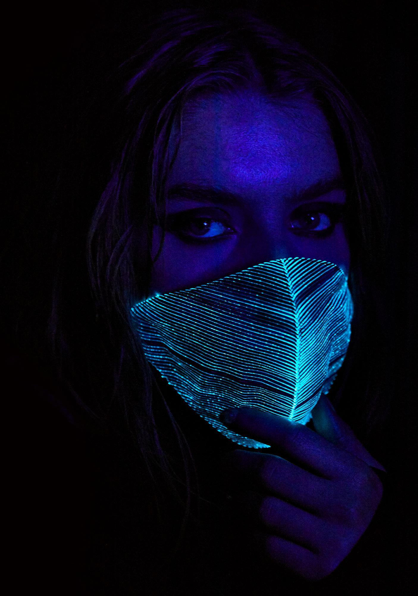 black light up mask