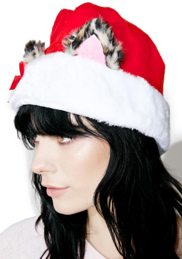 Santa Hat with Cat Ears