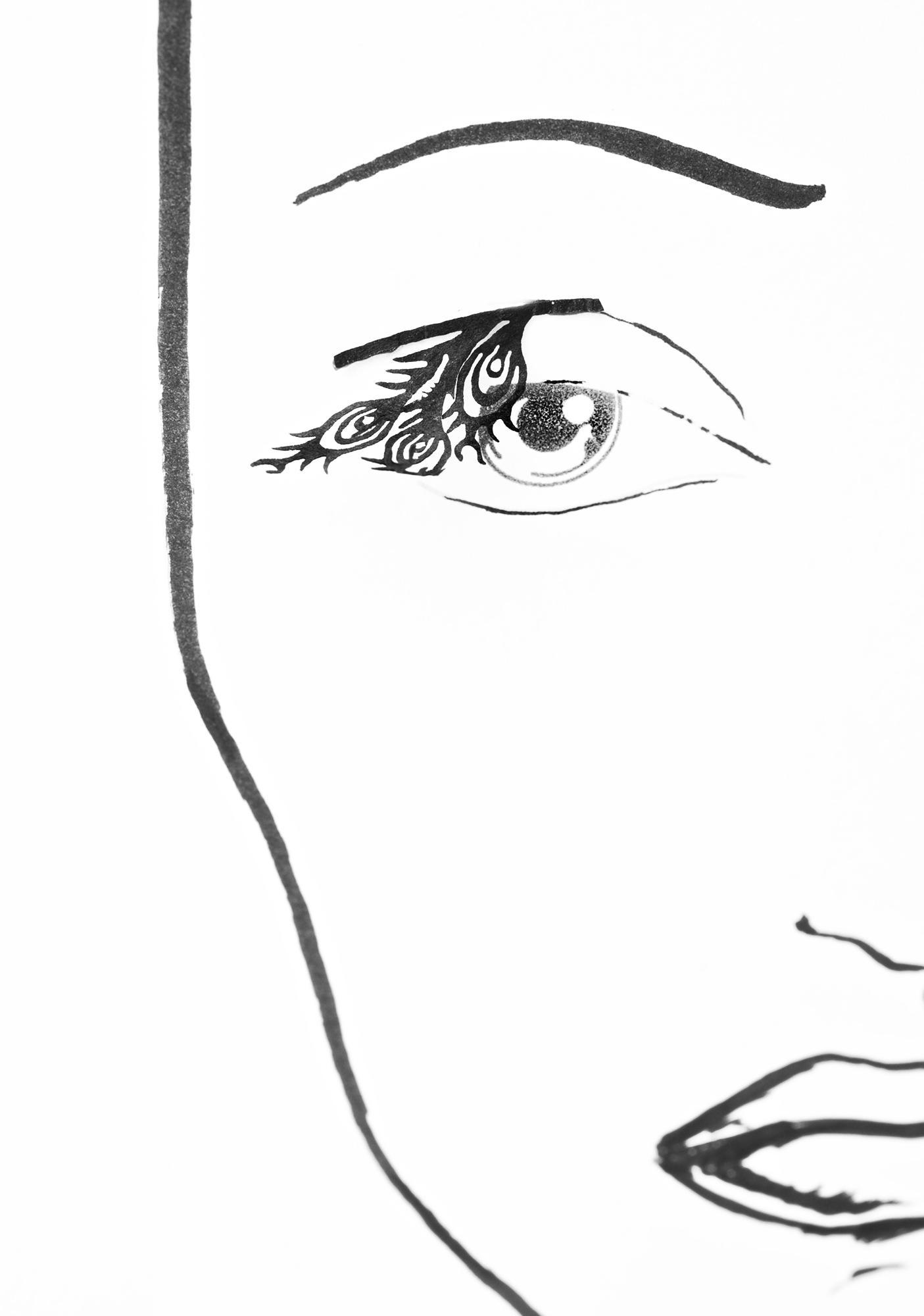 Stargazer Feathers Paper Eye Lash