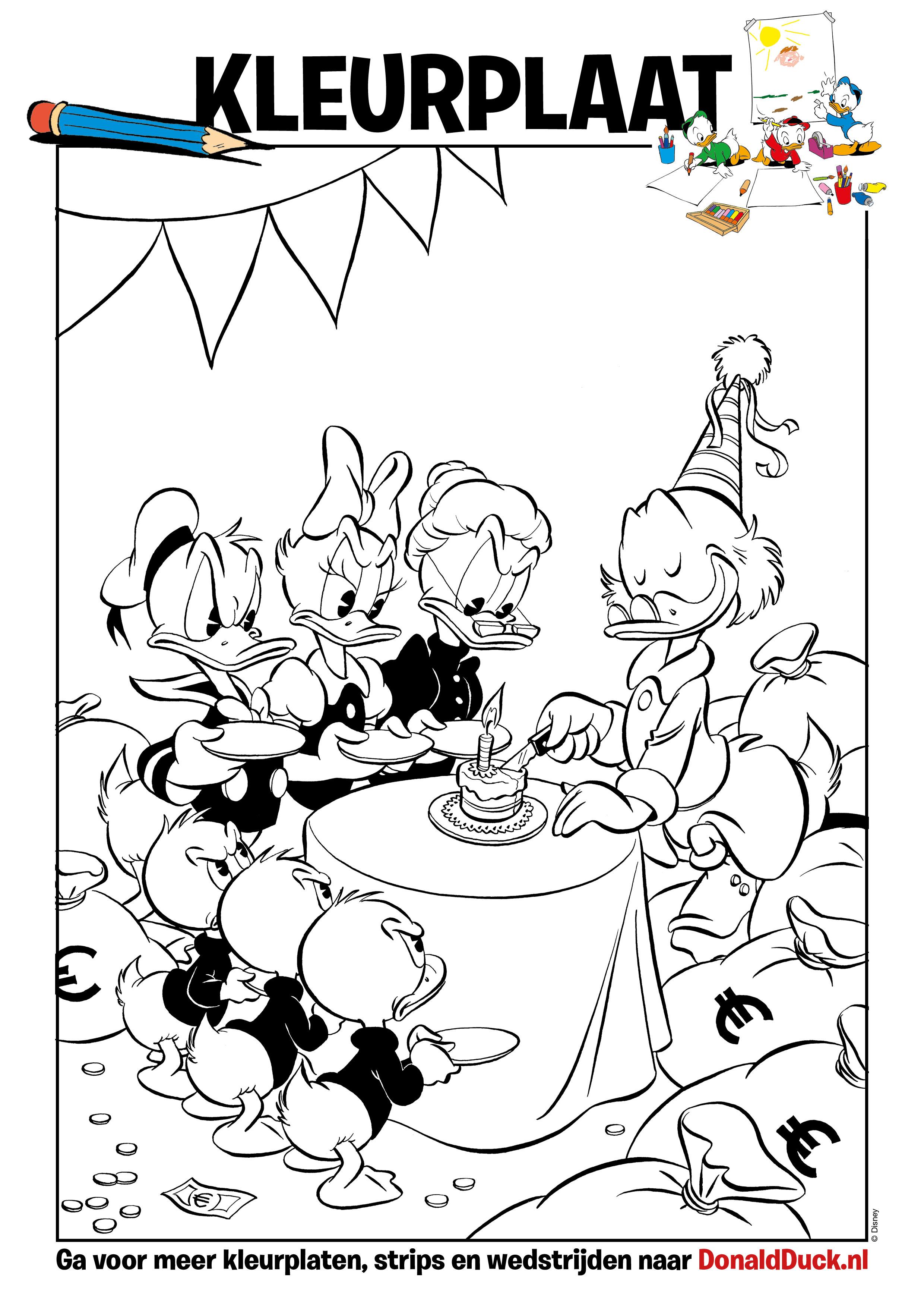 Kleurplaten Disney Verjaardag