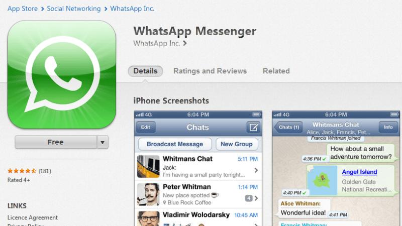 WhatsApp gratis pentru iPhone