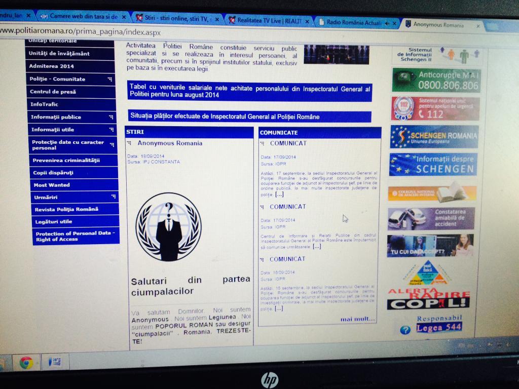 SQL  injection pe siteul politiei romane