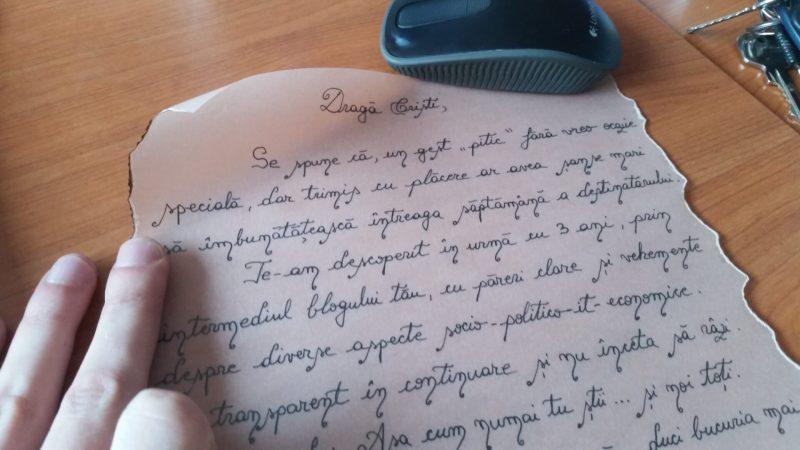Ce ii iei de Valentine's? Scrisoare vintage in sticla
