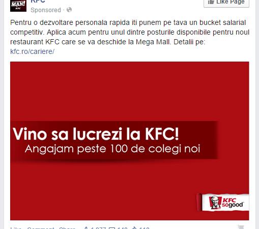 KFC caută oameni noi