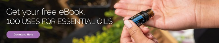 doTERRA Deep Blue Blend being applied to the hands. Get a free eBook, 100 Uses for Essential Oils. Click here to download.