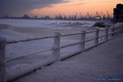 Marea Neagră înghețată la Constanța