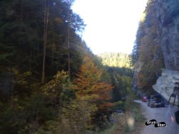 Pe drum, poză prin parbrizul mașinii