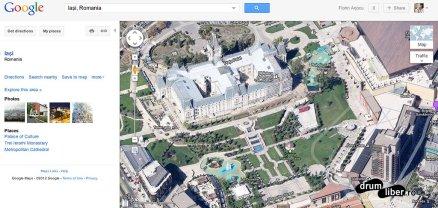 Google Maps 45 grade Iași