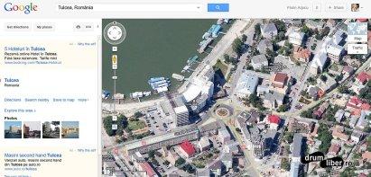 Google Maps 45 grade Tulcea