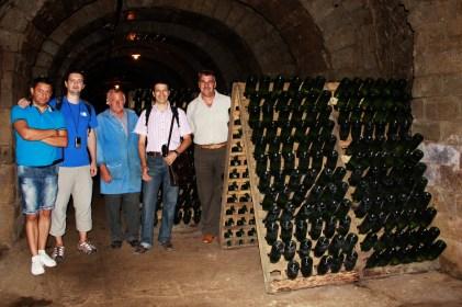 În tunelurile de la Spumante Silvania