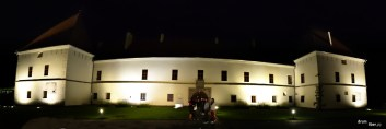 Panoramică noaptea la Muzeul Secuiesc al Ciucului - Castelul Miko