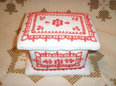 Operă de artă din turtă dulce - cutie