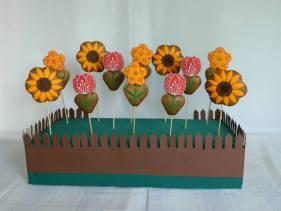 Operă de artă din turtă dulce - Flori