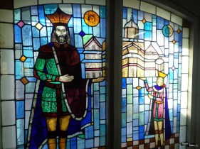 Vitralii în muzeul mănăstirii